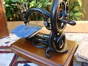 Old Vintage Antique Hand Crank  Sewing Machine Wilcox Willcox & Gibbs See Video