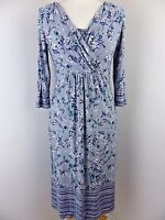 "Beautiful PER UNA dress grey blue floral size 10 bust 34"" M&S WORN ONCE"