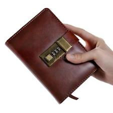 Vintage A7 Pocket Notebooks Diary Book W/ Password Lock Office Stationery M1C2