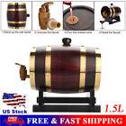 1.5L Vintage Oak Wood Timber Wine Barrel for Beer Whiskey Rum Port Wooden Barrel