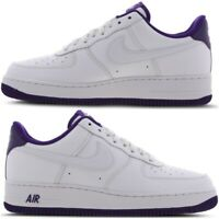Nike Air Force 1 Low Mens Trainers White Purple Violet Limited Edition All Sizes