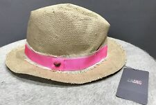 Zadig Voltaire Fedora Paille Taille: 14 ans Chapeau RRP £ 110 BNWT
