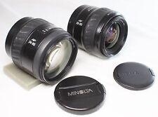 Lot of 2 Minolta AF zoom 24-85mm F3.5-4.5 & AF zoom Xi 28-80mm F4-5.6 Lens