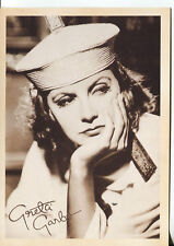 PICTURE POSTCARD OF MOVIE STAR GRETTO GARBO