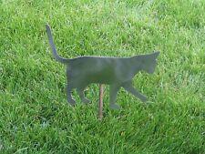Cat kitty playing yard garden stake metal art feline #8