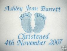 PERSONALISED BABY BLANKET, BIRTH / CHRISTENING GIFT