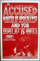 THE ACCUSED 2004 Gig POSTER Portland Oregon Concert