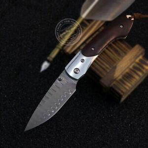JAPANESE VG10 DAMASCUS HUNTING KNIFE CAMPING RESCUE FOLDING KNIFE POCKET KNIFE