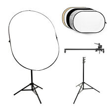 5-in-1 Collapsible Reflector Board (80x120cm) + Reflector Arm & Stand Studio