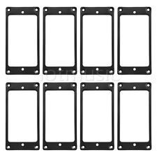 8pcs Flat Metal Humbucker Pickup Mounting Rings Black