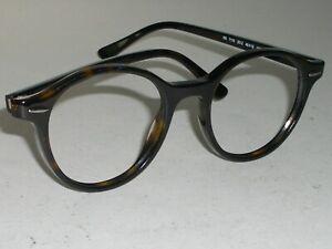 Ray-Ban RB7118 2012 48 19MM 145 Sleek Dark Schildpatt Rund Brille Rahmen