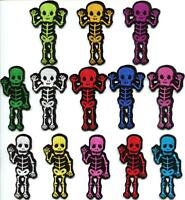 Skull skeleton goth punk emo horror applique iron-on patch new your choice SK-1