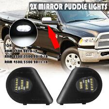 LED Side Mirror Puddle Lights Lamps For Dodge Ram 1500 2500 3500 4500 5500 10-19