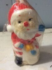 "Vintage Santa Claus Candle Christmas Unused Andrew Lewis Distributing 5"" tall"