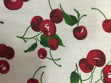 """CHERRY PRINT POLY COTTON FABRIC 58"""" WIDE BY THE YARD FREE SHIPPING"""