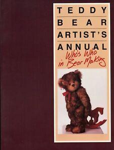 170+ ea International Teddy Bear Artists - Biographies Creations  / Illustr Book