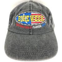 Daytona Beach Hat Bike Week Cap Flag Chain 1998 Motorcycles Logo Biker Trucker