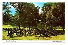 Knox's Artillery Postcard Valley Forge Pennsylvania National Park Cannons