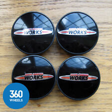 4 NEW GENUINE ORIGINAL MINI JCW WHEEL CENTRE CAPS HUB BADGES JOHN COOPER WORKS S