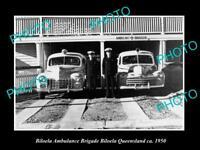 OLD LARGE HISTORIC PHOTO OF BILOEBA QLD, THE QATB AMBULANCE STATION c1950