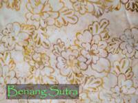 Batik Cotton Quilting Craft Fabric Sewing Fat Quarter Beige Yellow