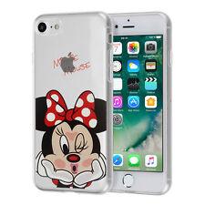 "Coque Housse Silicone TPU Ultra-Fine Dessin Minnie Mouse Apple iPhone 7 4.7"""