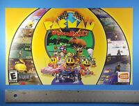 PAC-MAN World Rally 2006 Video Game Store Display Sign Promo Advertising