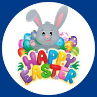 NON PERSONALISED HAPPY EASTER BUNNY, EGG HUNT GLOSS QUALITY PARTY BAG, STICKERS,