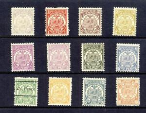TRANSVAAL-1885 SET TO 2sh6d-5sh+10sh--(1sh VALUE IS O/PT)-ALL UNMOUNTED MINT