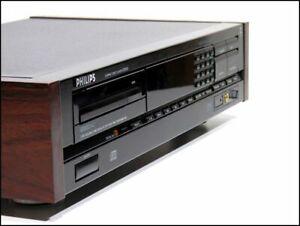 Philips CD-830 -Top Player, Topzustand mit Holzseizen, FB und BDA-