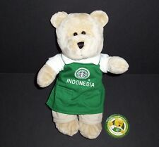 Starbucks Destination Bearista Bear Indonesia Green Apron Old Logo 2007 Plush