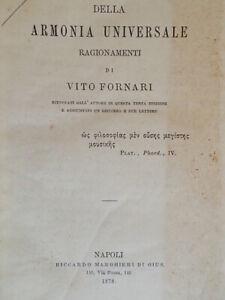 Della armonia universale RagionamentiFornari vitomarghieri 1878 filosofia