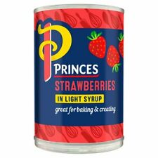 Strawberry Fruit Filling Pie Princes 410g Tin Strawberries In Light Syrup