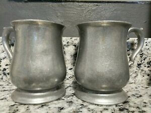 Vintage/Antique RWP Wilton Armetale Pewter Mugs Set Of 2 New/Unused