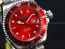 Invicta Men's 43mm Submariner Deep Pro Diver RED SEA DIAL PC32 SS Watch- Rare