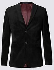 Slim Fit Single Breasted Velvet Jacket Size: 42 Medium