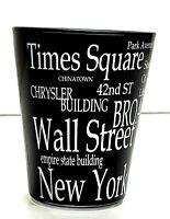 Black Shot Glass - New York City Souvenir Collectible Big Apple Time Square
