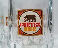 FOUR (4) Vtg. Bern Switzerland GURTEN BIER Rastal heavy glass beer steins mugs