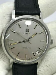 VINTAGE ZENITH AUTOMATIC CAL.2572 PC MENS 34.5mm SWISS MADE REF.01.1280.380