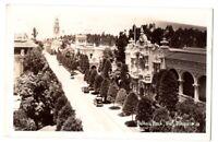 092420 VINTAGE RPPC BALBOA PARK SAN DIEGO CA REAL PHOTO POSTCARD 1941