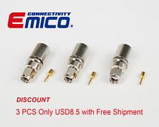 3 PCS RP SMA MALE CRIMP FOR LMR400, NICKEL (eBay-SA110-400)