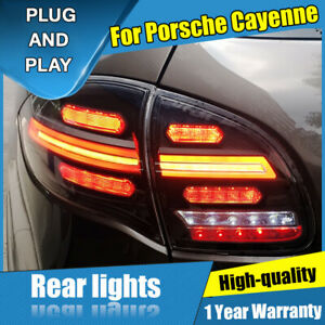 For Porsche Cayenne Dark LED Rear Lights Assembly LED Tail Lamps 2011-2014