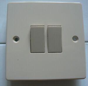 2 gang 2 way beige light switch 10ax