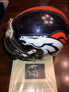 Clinton Portis Denver Broncos Game Used Issued Helmet Hurricanes Redskins