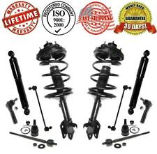 Front Strut Coil Spring Assembly & Rear Shocks + Steering Suspension Chassi Kit