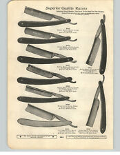 1900 PAPER AD Wade & Butcher Straight Razor Extra Hollow Hamburg Ground Iroquois