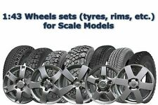 1:43 Wheels sets (tyres, rims, etc.) for Scale Models