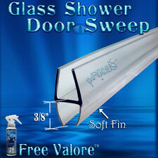"DS9382 1/4"" Glass Shower Door Sweep, Wipe, Seal - 32"" Long  FREE Valore Sealer"