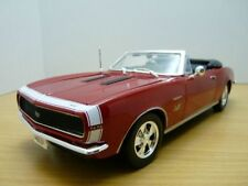 CHEVROLET 1967 CAMARO SS RS 396 Model Red cabriolet rouge 1/18 1:18 die scale