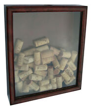 Cork in a box - Custom Wine Cork Shadow Box Display Case Mahogany